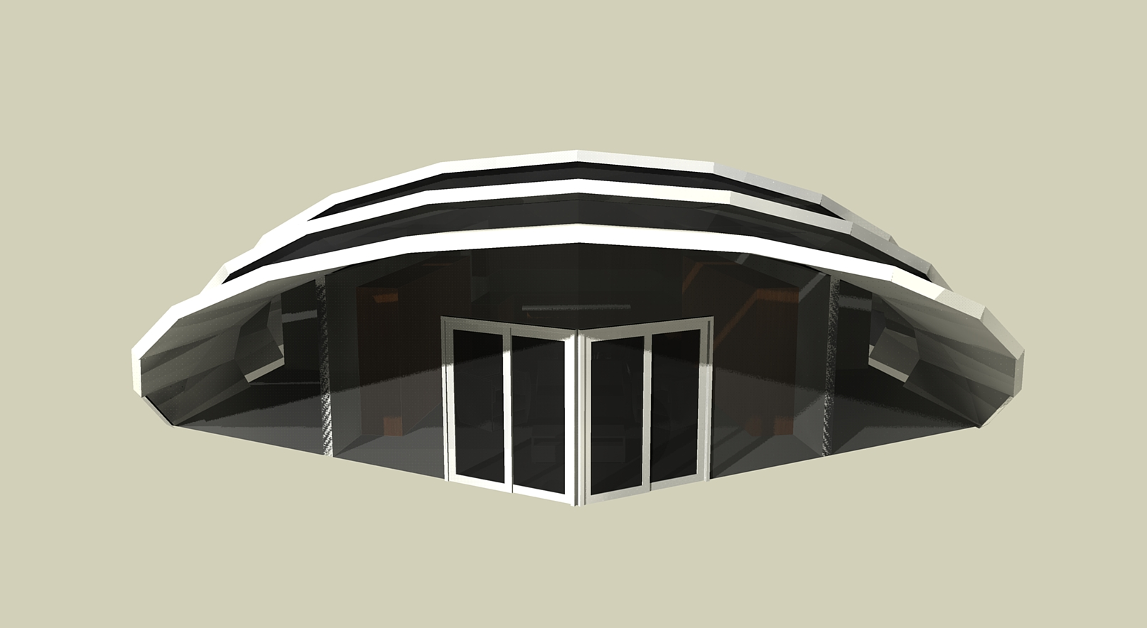 Passive Solar House - Front View