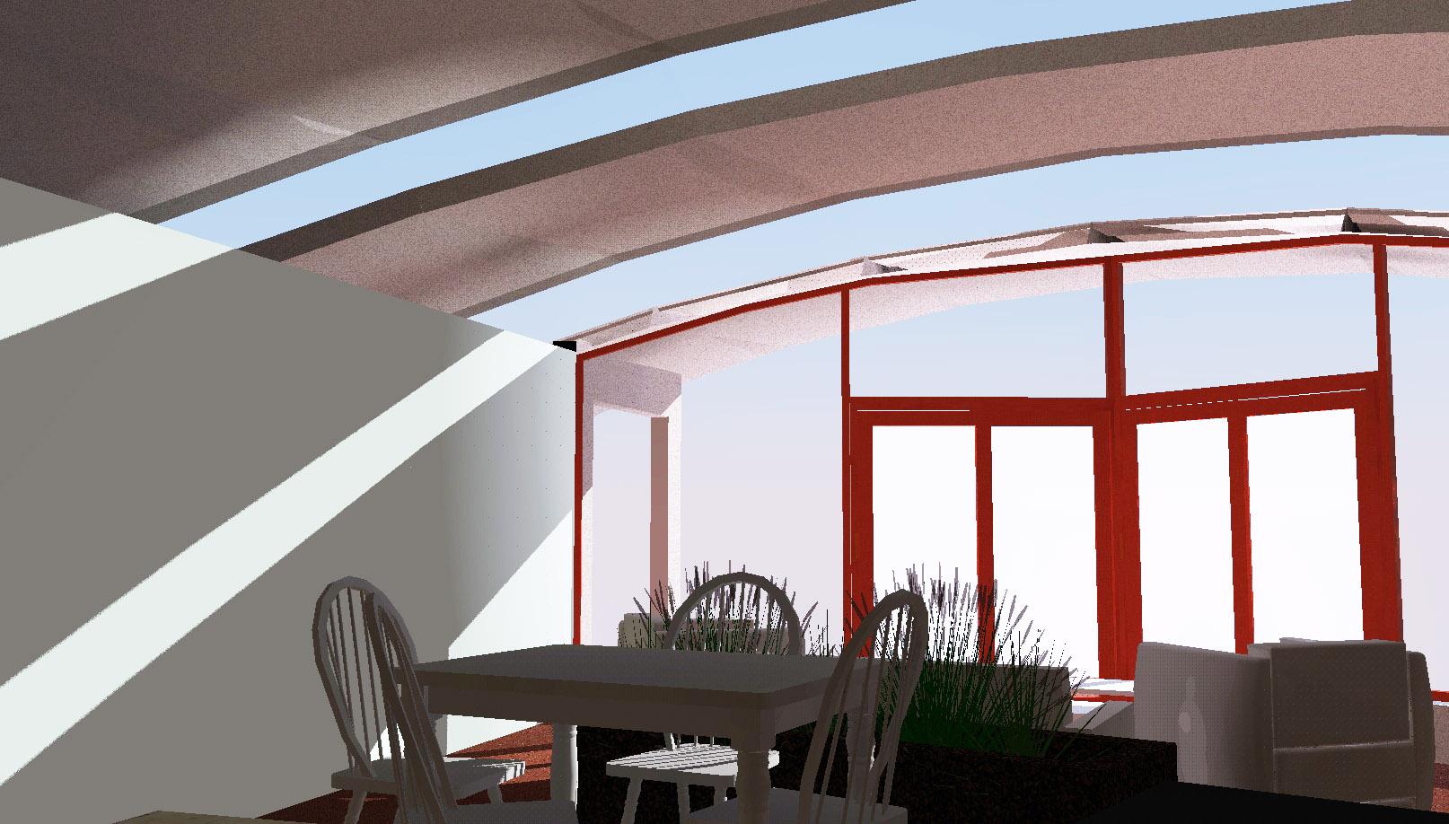 Passive Solar House - Sun Entering House
