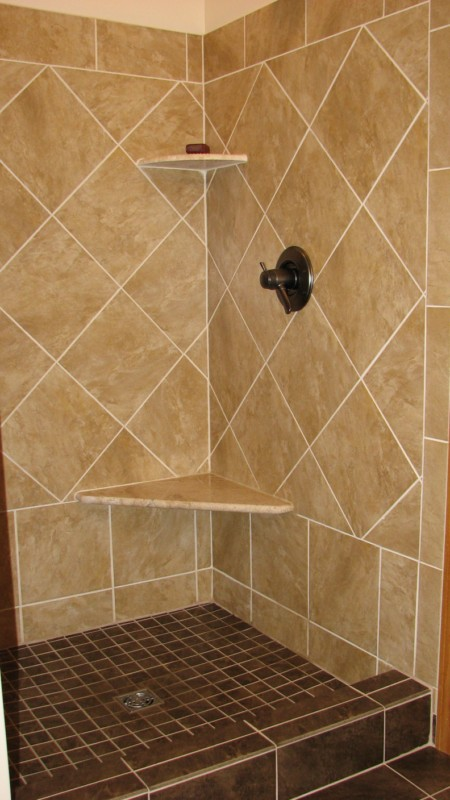 Tile Shower Seat Curb Shelves
