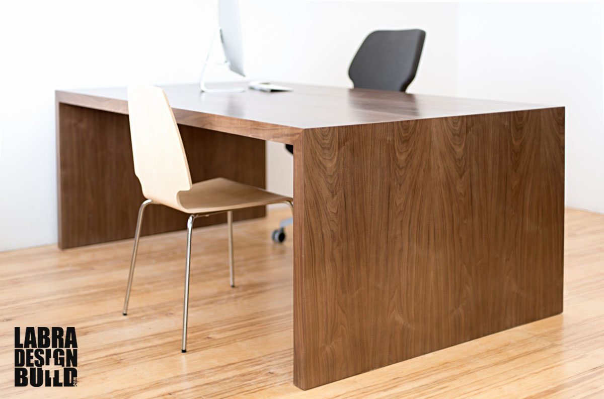 Modern walnut desk custom sizing available starting at - Walnut office desk ...