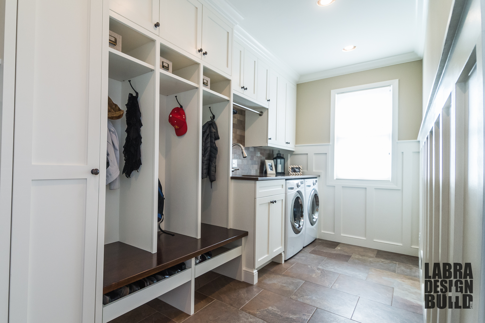 Lindau0027s Laundry + Mudroom Custom Cabinetry