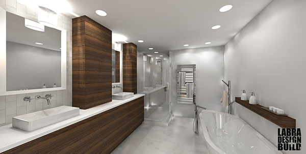 Modern Master Bathroom Design | Labra Design+Build