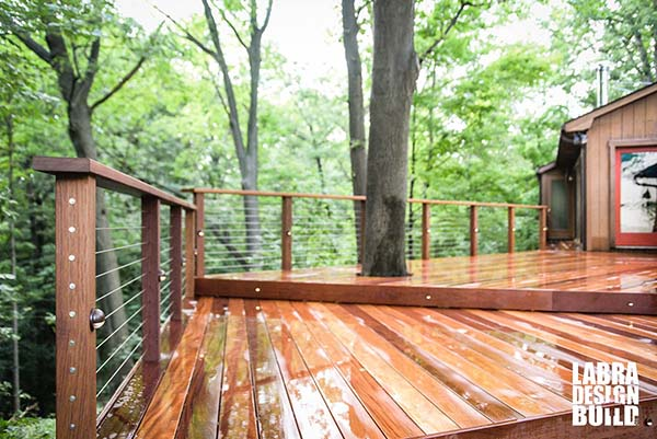 Cumaru Deck With Stainless Steel Cable Railings