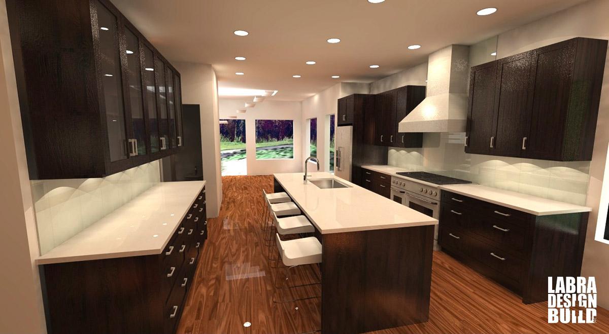 Modern Kitchen 3d Design home design + construction services | labra design+build