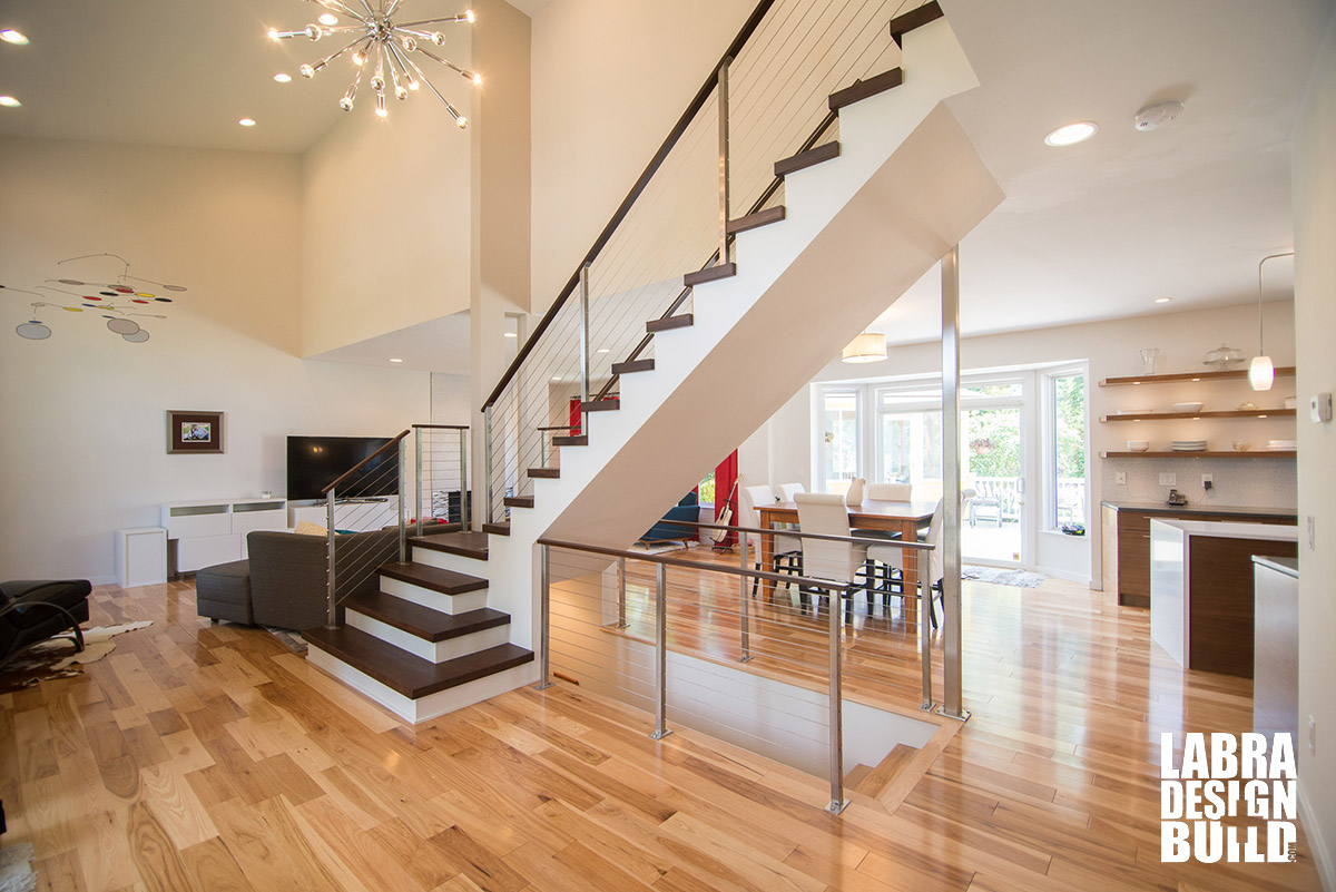 modern home remodel - south lyon, michigan | labra design build