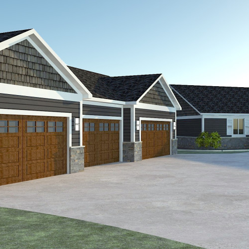 Garage and House Exterior Design