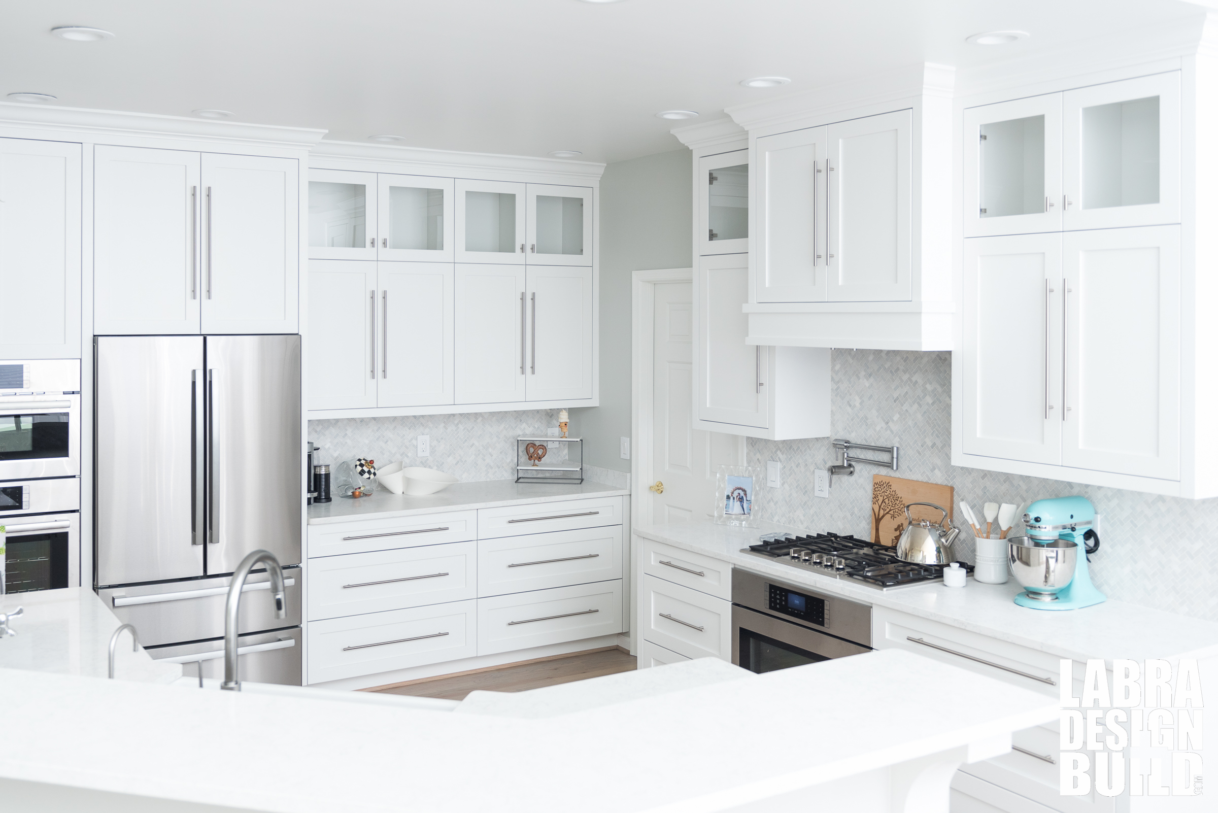 Dreamy White Custom Kitchen Labra Design Build