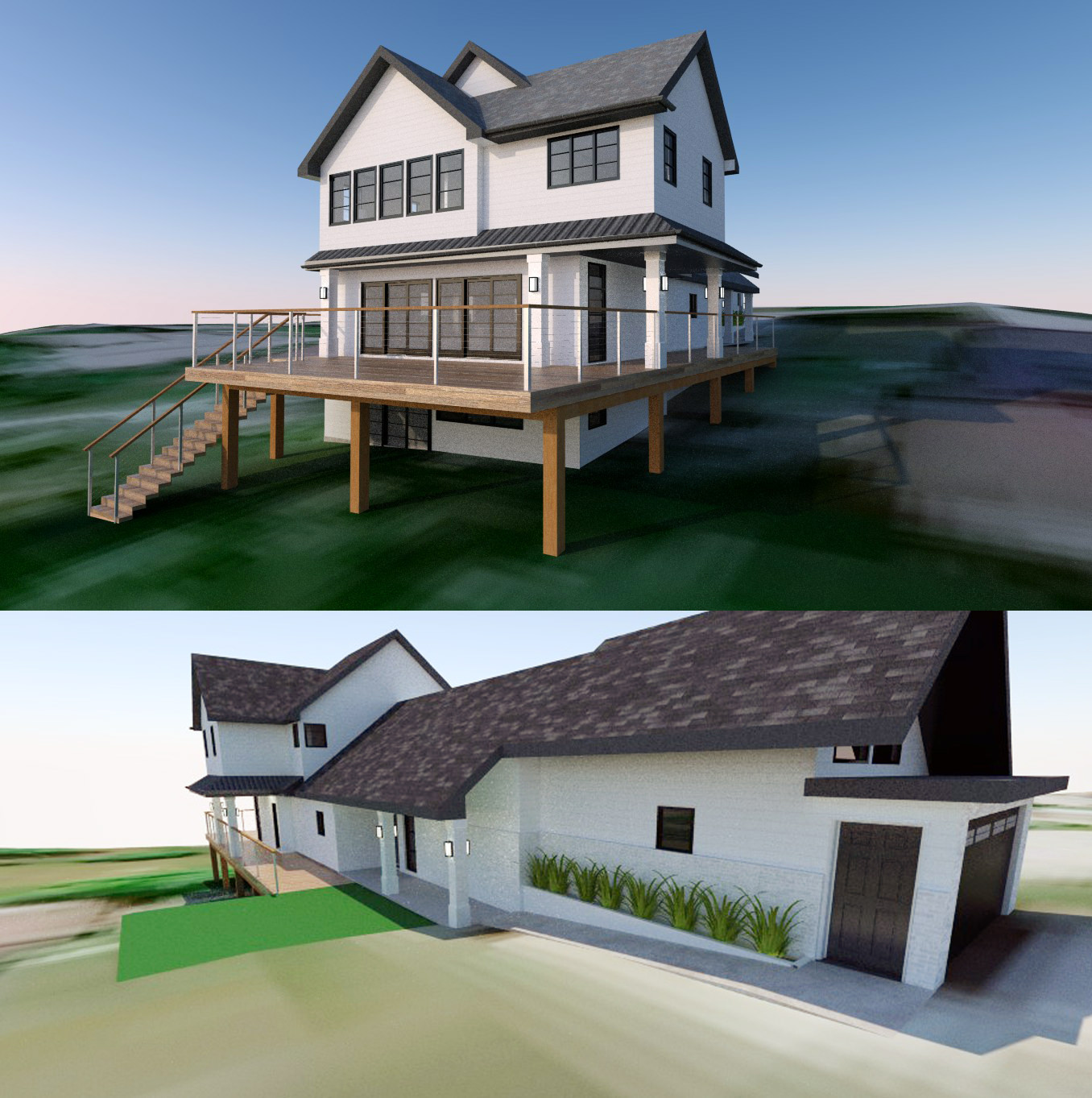 Modern Farmhouse Remodel Addition Design, Sylvan Lake
