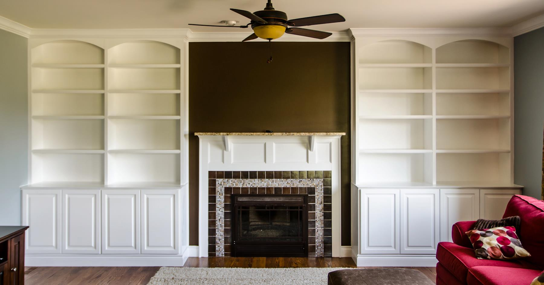 built in cabinets for living room living room custom built in bookcase novi labra design build 26279