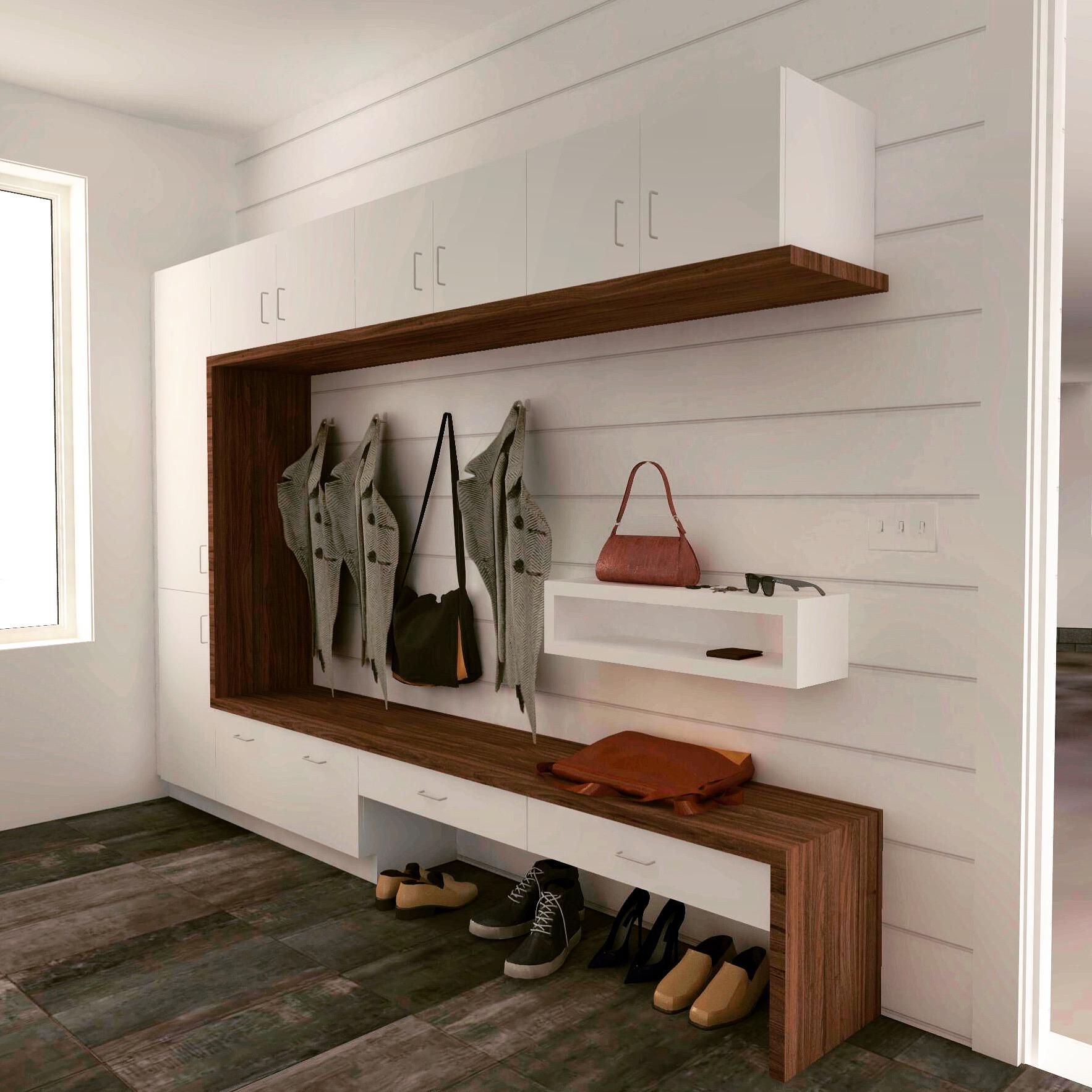 3d Architect Home Design Software For Custom Garage Layouts: Modern Mudroom Lockers Design