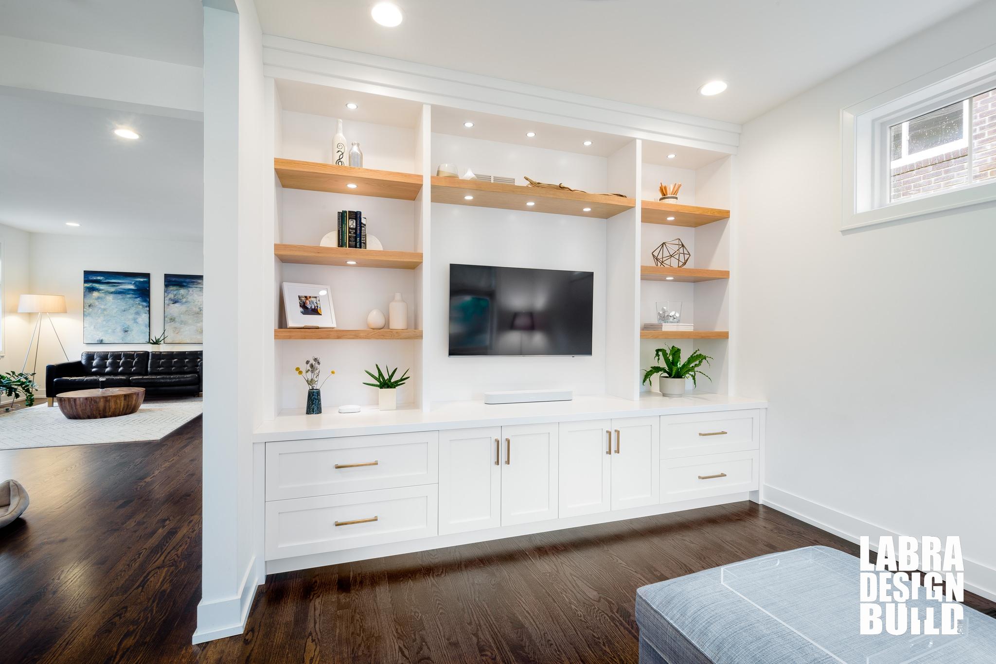 Ferndale Modern Minimal Built In Entertainment Wall Labra Design